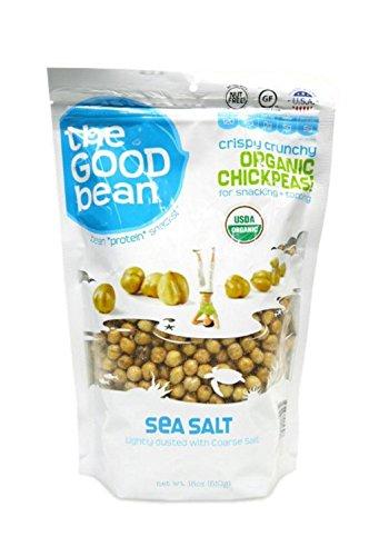 The Good Bean Sea Salt Flavor Crispy Crunchy Chickpeas, 18 Ounce (Chick Peas Roasted compare prices)