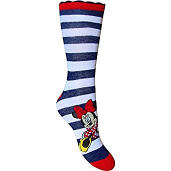 Womens Disney Minnie Mouse Colourful Everyday Socks