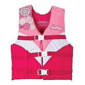 Amazon.com : Obrien Youth 3 Buckle Nylon Vest (Pink/White