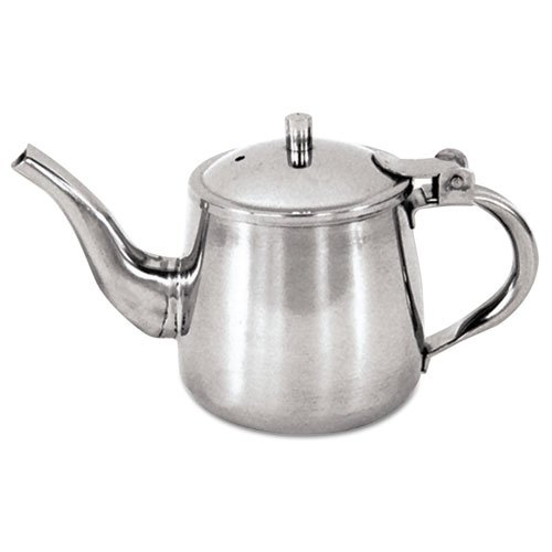 Adcraft Stainless Steel Gooseneck Teapot, 10 oz. - Single unit included. (Catering Teapots compare prices)