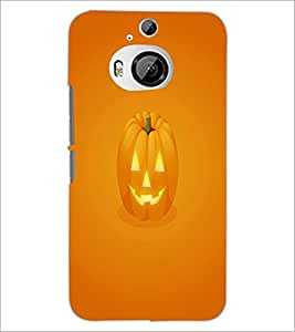 PrintDhaba Pumpkin Face D-2352 Back Case Cover for HTC ONE M9 PLUS (Multi-Coloured)