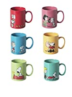 Merry Christmas Set Taza 6 Uds. Snoopy Multicolor