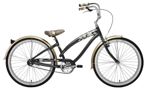 Nirve Island Flower 1 speed Bicycle (Charcoal)