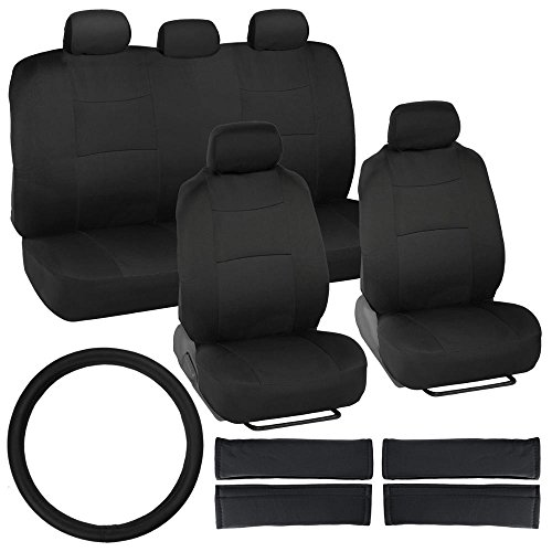Bdk Universal Full Set Of Deluxe Car 16 Piece Low Back Seat Covers - Universal Fit For Car, Truck, Suv, Or Van