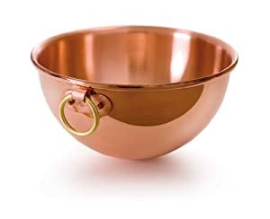 Mauviel M'Passion 2191.26 Copper 10-Inch/4.6L/4.9-Quart Egg White Bowl with Ring