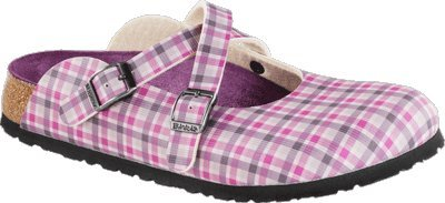 Birki  DORIAN  Check Lilac Gray Clogs And Mules Girls