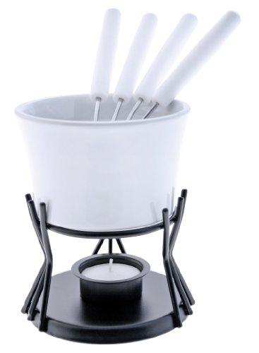 Swissmar Kindle 7 Piece Chocolate Fondue Set, White