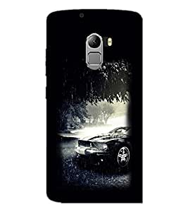 PrintDhaba Car D-2196 Back Case Cover for LENOVO VIBE X3 LITE (Multi-Coloured)