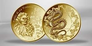 """FRANKREICH / FRANCE 50 GOLDEURO EURO GEDENKMÜNZE """" Jahr des Drachens """" 2012 - PP - POLIERTE PLATTE - 920er GOLD - ANLAGEMÜNZE - AUFLAGE NUR 1.000 STÜCK RAR"""