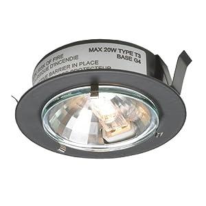 Dals S1022r Bk 12v Halogen Puck Black Disk Light
