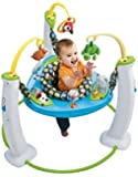 Exersaucer My First Pet Jump and Learn Stationary Jumper, Blue/Green/Yellow/Black