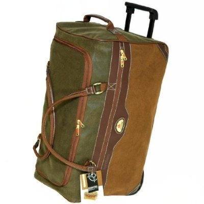Extra Large 30 Inch Wheeled Luggage Bag (Olive/Tan) 108 Litres