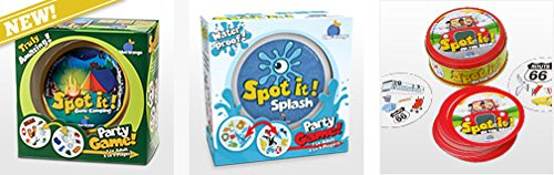 Spot it! Vacation/Travel Set: Spot it! Splash, Spot it! On the Road, Spot it! Gone Camping