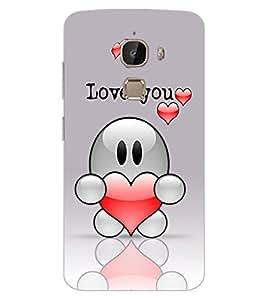 ColourCraft Love Design Back Case Cover for LeEco Le 2