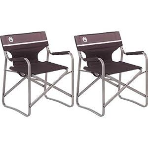 Coleman Aluminum Portable Deck Chair 2 Pack