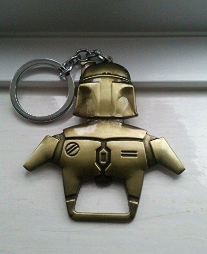 Star Wars Boba Fett-Apribottiglie portachiavi, colore: oro anticato
