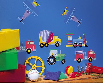 Olive KidsTM Trains, Planes and Trucks Wallies Wallpaper Cutouts
