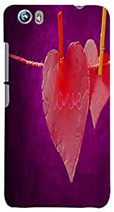 PrintVisa Love Case Cover for Micromax Canvas Fire 4 A107