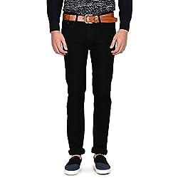 Ruace Men's Regular Fit Z Black Jeans