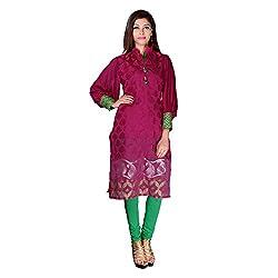 Sarvottam Chanderi silk kurta with bell sleeves P00007