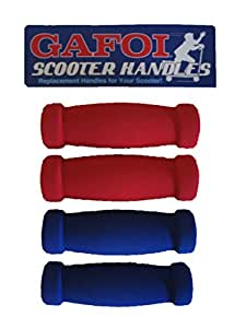 New Replacement Scooter Handle Grips for Razor Scooters - (Multi-Pack) (Red/Blue/Black)