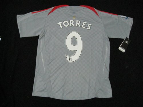 08-09 LIVERPOOL AWAY JERSEY TORRES + FREE SHORT (SIZE XL)