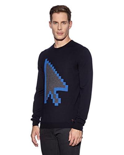 Moschino Jersey Azul Oscuro / Gris