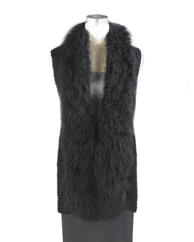 Camouflaging Tunic Vest with Rich Faux Fur Front by Shape FX