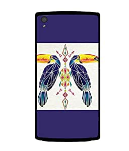 printtech Bird parrot Ethnic Pattern Back Case Cover for OnePlus X