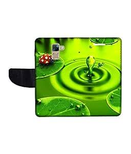 KolorEdge Printed Flip Cover For Huawei Honor 7 Multicolor - (1478-50KeMLogo09552Honor7)