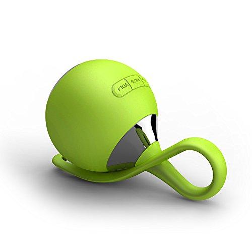 Mopo 高品質 Bluetooth4.0 ワイヤレス 防水 防滴 耐衝撃 スピーカー かわいい おしゃれ ブルートゥース iPhone iPad スマートフォン対応 小型なポー タブルスピーカー アウトドア/お風呂に/キッチン/洗面所/景品/贈り物 (グリーン)