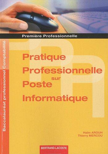 Pratique professionnelle sur poste informatique 1e professionnelle Bac ...