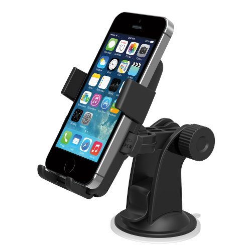 iOttie HLCRIO102 One Touch Windshield Dashboard Universal Car Mount Holder for iPhone 4S/5/5S/5C, Galaxy S4/S3/S2, HTC One - Frustration Free Packaging - Black