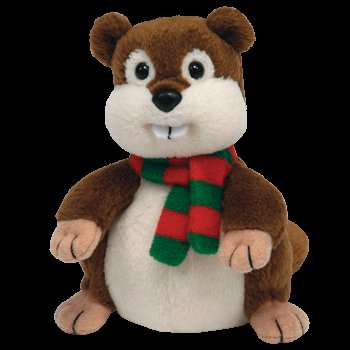 TY Jingle Beanie Baby - YULE the Beaver