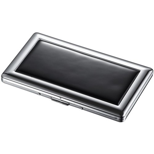 Slate Black Cigarette Case - Holds 9 120 Size Cigarettes front-697360