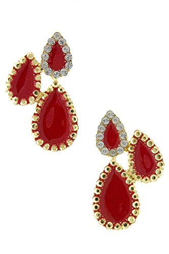 Karmas Canvas Sophisticate Stud Earring (Red) front-1001808