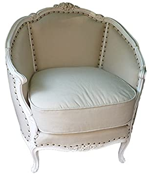 N.266 Coppia Poltrone In Noce Shabby Chic