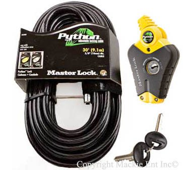 Master Lock - Python Adjustable Cable Locks #8428-30