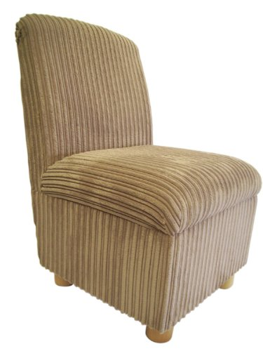 Bedroom Chair in Beautiful Soft Mink Jumbo Cord Fabric