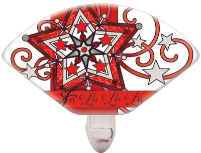 Nightlight-NL0101R-Christmas Star//Fa la la - 1