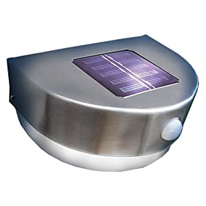 stainless steel solar pir door porch light garden