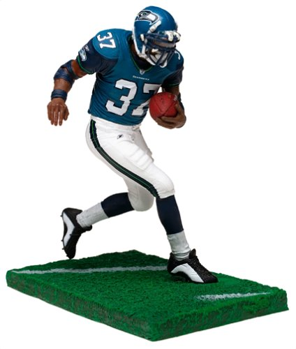 McFarlane Toys NFL Sports Picks Series 6 Action Figure Shaun Alexander (Seattle Seahawks) Blue Jersey White Pants
