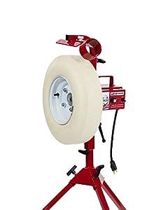 First Pitch The Baseline Baseball & Softball Pitching Machine Baseline Legs Up To 70 mph