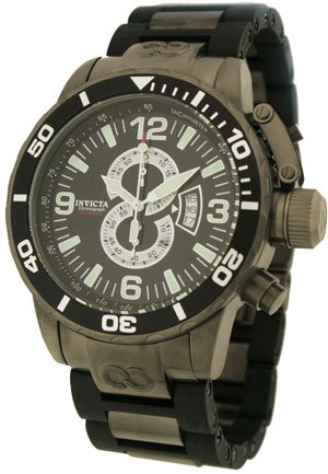 Buy INVICTA MEN'S CORDUBA DIVER CHRONO W/BLACK DIAL/GUNMETAL AND IPB AND RUBBER LINK BAND – 4901