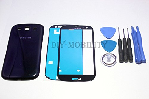 Samsung Galaxy S3 Glass Screen Black Replacement Kit With Dm Tools, Instructions, And Back Cover Included I9300 I747 T999 I535 - Diymobility