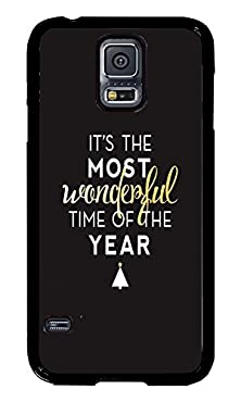 buy Phone Case Custom Samsung S5 Phone Case The Most Wonderful Time Of The Year Black Polycarbonate Hard Case For Samsung S5 Case