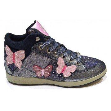 Scarpe bambina sneakers LELLI KELLY Butterfly Lights Blu - 33, Tela + Pelle + Camoscio, Blu