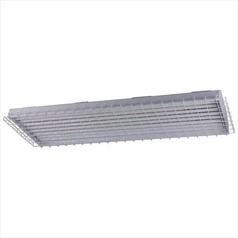 Teksupply 111309 46 In High Output Energy-Efficient High Bay Fixture 54W T-5 - 8 Lamp