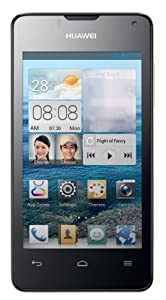 Huawei Ascend Y300 Smartphone (10,2 cm (4,0 Zoll) Touchscreen, 1,0 GHz Dual core Prozessor, 512 MB RAM, 5 Megapixel mit Autofokus, Android 4.1 (Jelly Bean)) schwarz