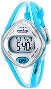 Timex Womans T5K785 Ironman Sleek 50-Lap Turquoise Resin